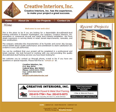Affordable Construction Website Design Custom