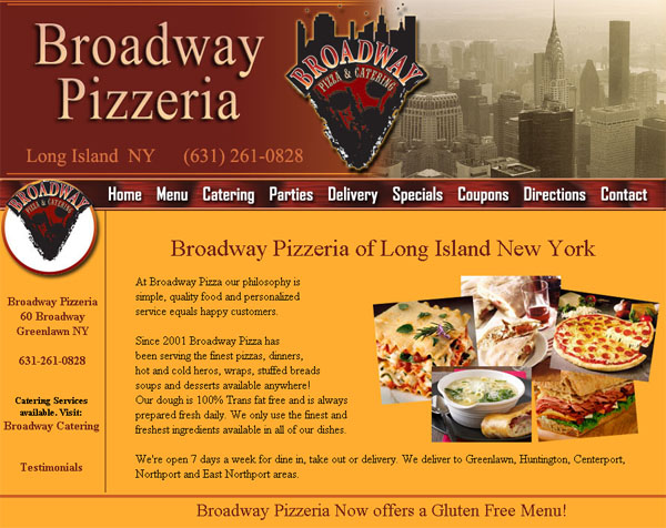Restaurant website design catering website design for Cuisine website
