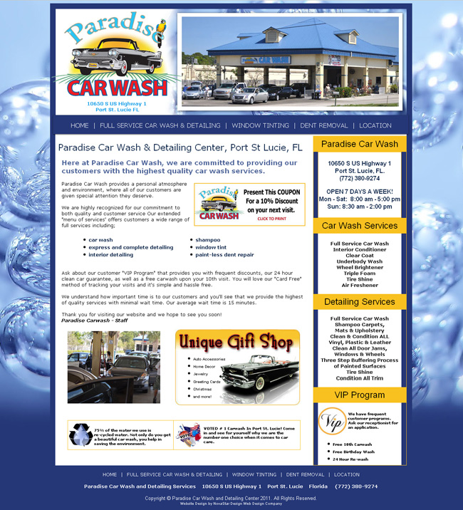 Paradise Car Wash Port St Lucie Florida