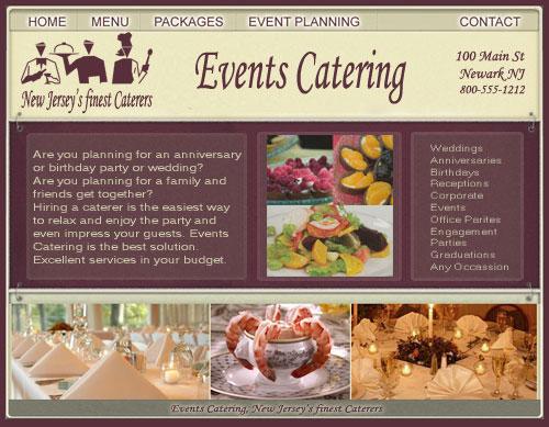 Restaurant Website Design Catering Caterers Brochure