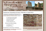 Tuckpointing, Masonry Contractor Web Design for Champaign IL Tuckpointing