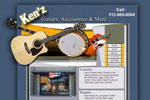 Music Store Websites, Website Design for Guitar Store, Lessons and Online Music Store