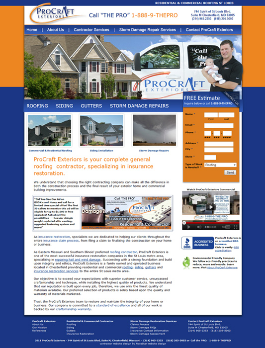 Roofing Website Design