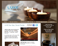 spa website design | day spa website design